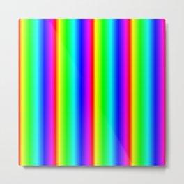 Rainbow Gradient Metal Print