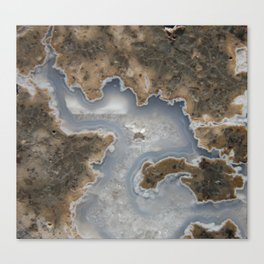 Abstract Rhyolite & Agate Canvas Print