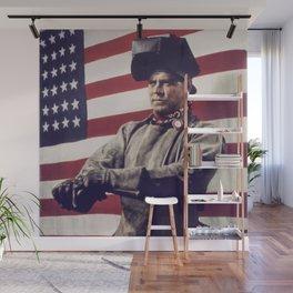 Patriotic Vintage Welder Wall Mural