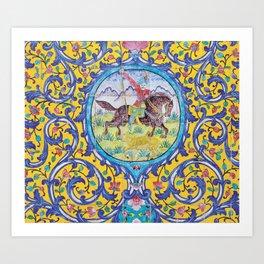 Iranian tiles Art Print
