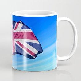 The British flag waving on the wind Coffee Mug