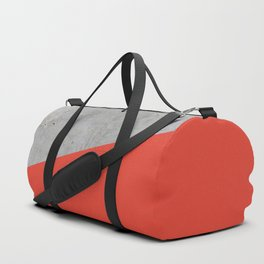Concrete and Cherry Tomato Color Duffle Bag