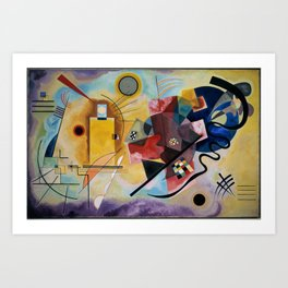Yellow red and blue - V. Kandinsky Art Print