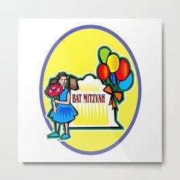 Bat Mitzvah party girl  Metal Print