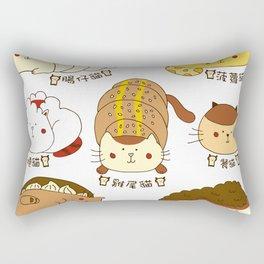 Cat buns Rectangular Pillow