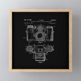 Vintage Camera Patent Black Blueprint Framed Mini Art Print