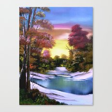 First Snows of Autumn Canvas Print