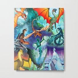 Wings-Of-Fire all dragon Metal Print