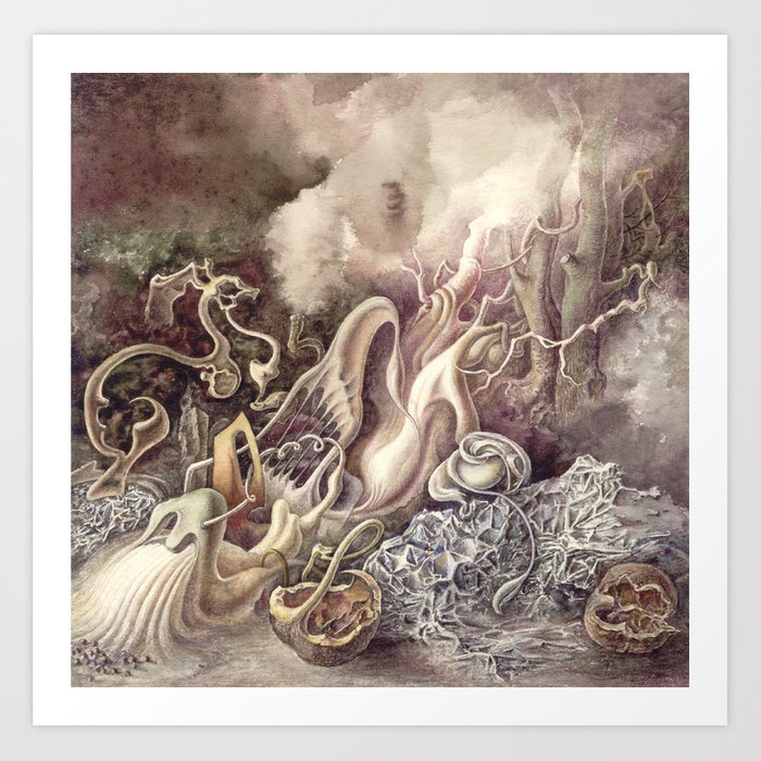 SURREAL COMPOSITION (AQUARELLE)  Art Print