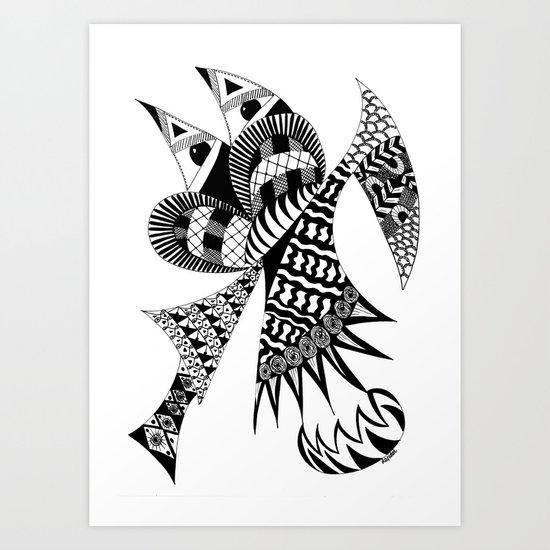Ubiquitous Bird Art Print