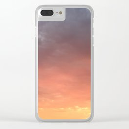 Yellow Red and Gray Sky Clear iPhone Case