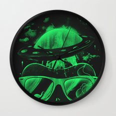 Hipster Invasion Wall Clock