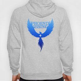 PHOENIX RISING blue with star center Hoody