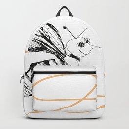 Crazy Bee drawing illustration for kds Backpack