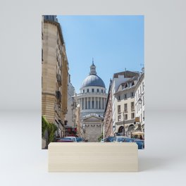 The Pantheon from rue Valette in Paris Mini Art Print