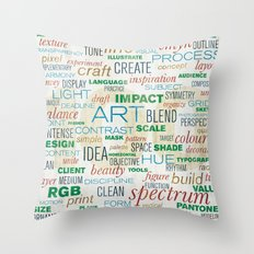pattern series 019 - think design Throw Pillow