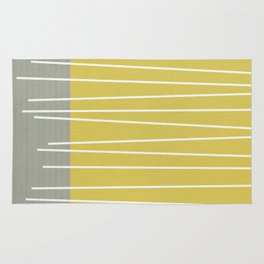 MId century modern textured stripes Rug