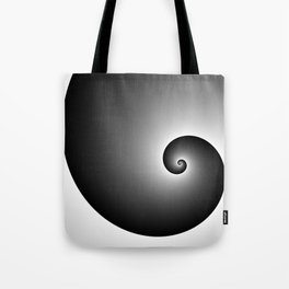 Swirly black Tote Bag