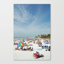 Beachgoers At Fort Myers Canvas Print