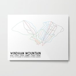 Windham, NY - Minimalist Trail Art Metal Print
