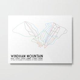 Windham, NY - Minimalist Trail Art Metal Print