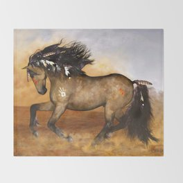 HORSE - Cherokee Throw Blanket