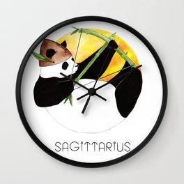 Panda Zodiac Sagittarius Wall Clock