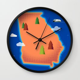 Georgia Island Wall Clock