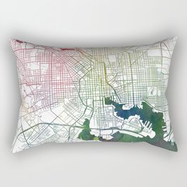Baltimore Watercolor Map Art by Zouzounio Art Rectangular Pillow