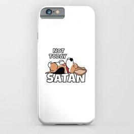 Not Today Satan Funny Beagle iPhone Case