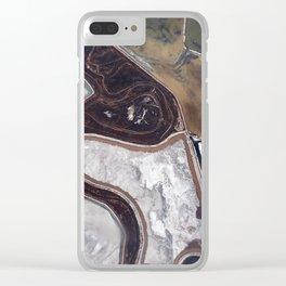 Saline Land Clear iPhone Case