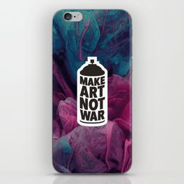 Make Art Not War (reversed) iPhone Skin