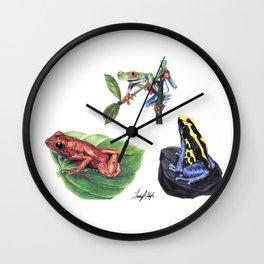 Jungle Frogs Wall Clock