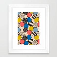 Memphis Inspired Pattern 5 Framed Art Print