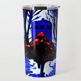 Shadow Light Of Tardis Travel Mug