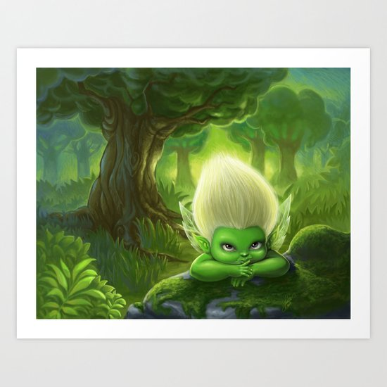 Apple Fairy Art Print