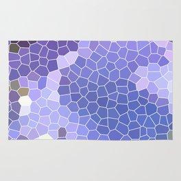 Abstract Purple Mosaic Art | Geometric | Spring Rug