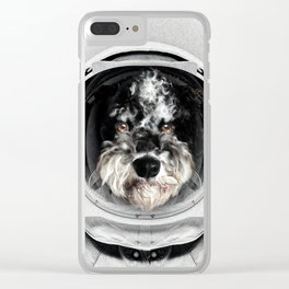 Buster Astro Dog Clear iPhone Case