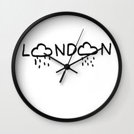 Clouds in London Wall Clock