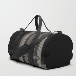 Modern Black Ribbon Pattern Design Duffle Bag