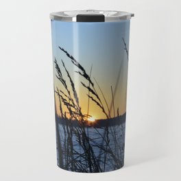 Sunset Sea Grass Travel Mug