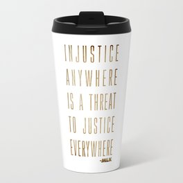 Martin Luther King Typography Quotes Travel Mug