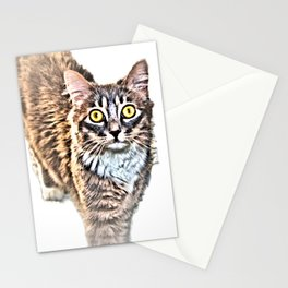 Cat With Amazing Eyes, Watching You Stationery Cards