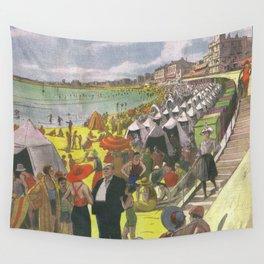 Les Sables d'Olonne - La Plage 1933 Wall Tapestry