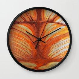 Rusty Abstract Watermarks Wall Clock