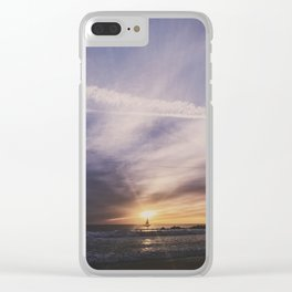 Sailing in The Sun Clear iPhone Case