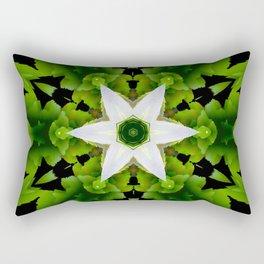 star flower mandala in green Rectangular Pillow