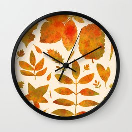 Autumn Leaves Fall Wall Clock