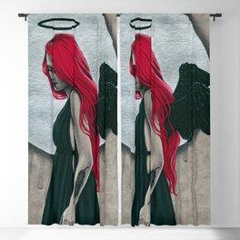 Black Halo Gothic Angel Blackout Curtain