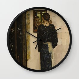 George Hendrik Breitner - The Earring, 1893 Wall Clock